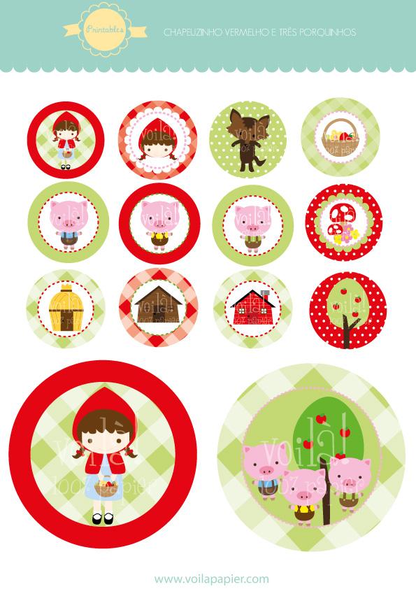 Printable Chapeuzinho Vermelho E Tres Porquinhos Voilapapier Com